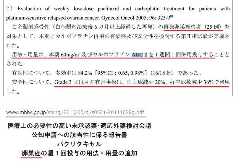 カルボプラチン(AUC 2を1週間1回投与)との併用その3.png
